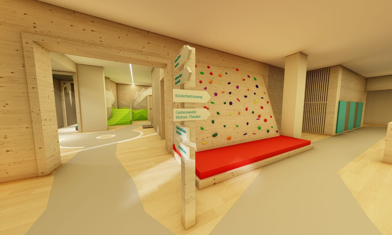 Kinderspielbereich inklusive Kinderbetreuung im HOFGUT Apartment und Lifestyle Resort Wagrain Salzburg
