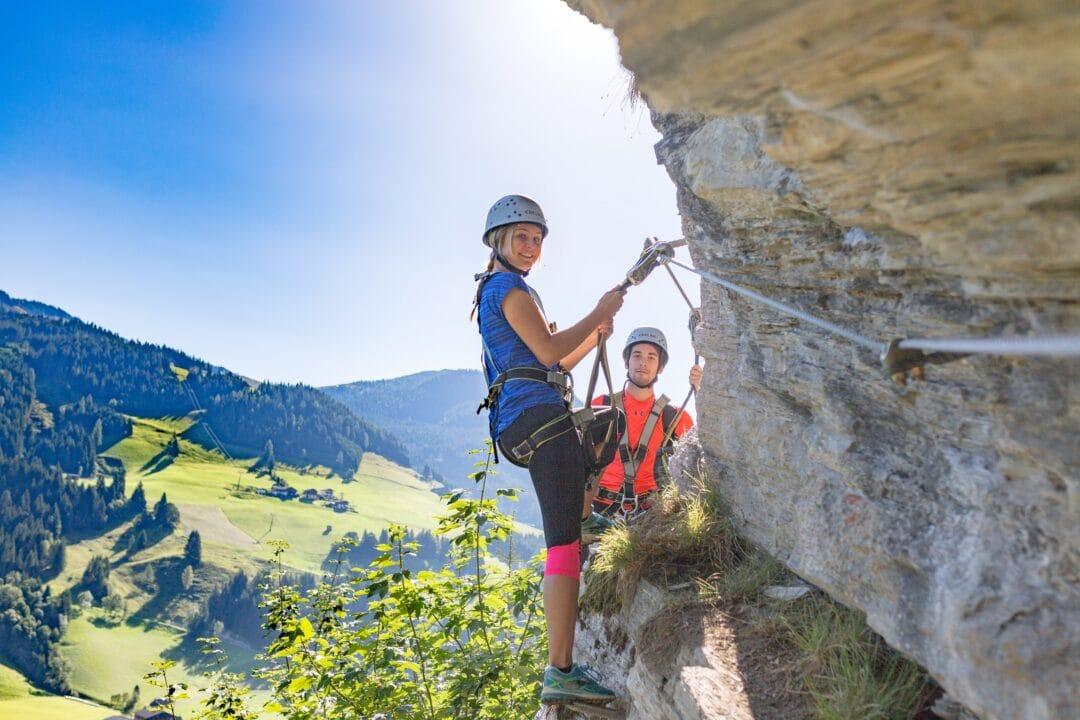 Erleben-im-Hofgut-im-Sommer-Klettersteig-Kletterwelt-Wagrain-Kleinarl