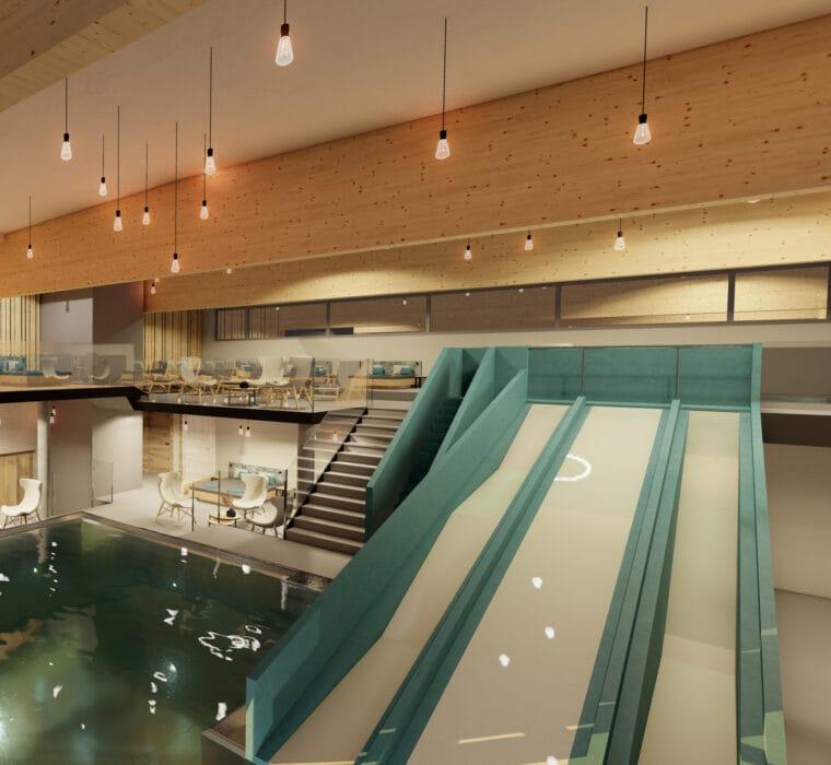 Hofgut-Apartment-lifestyle-resort-erleben-fuer-Kinder-Indoor-Hallenbad-Wasserrutsche
