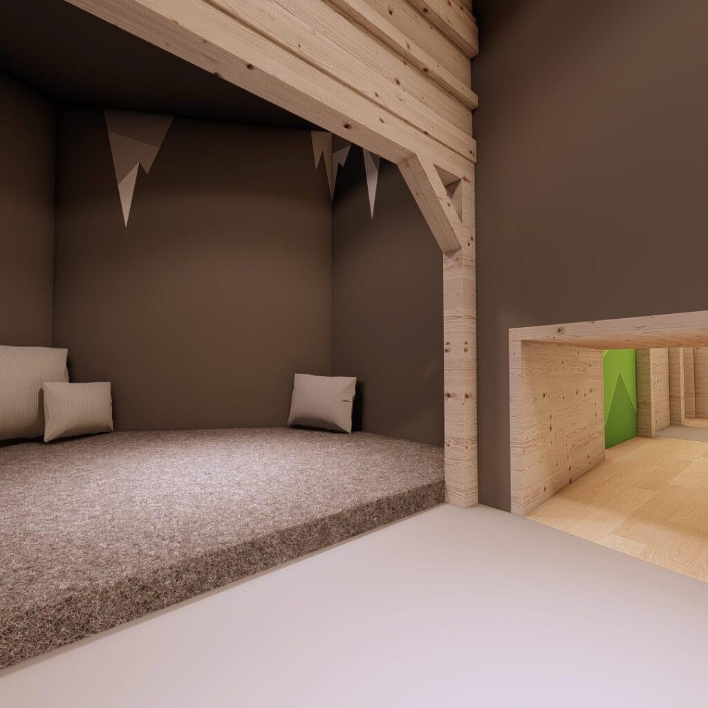 Hofgut-Wagrain-Apartment-Lifestyle-Resort-Erleben-fuer-Kinder-Minipark-Bergwerkshoehle