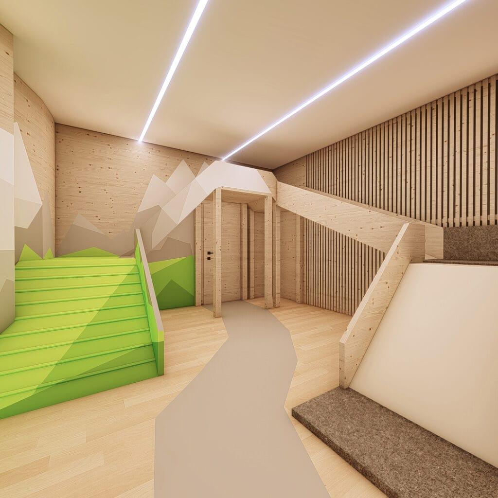 Hofgut-Wagrain-Apartment-Lifestyle-Resort-Erleben-fuer-Kinder-Minipark-Kletterrondel