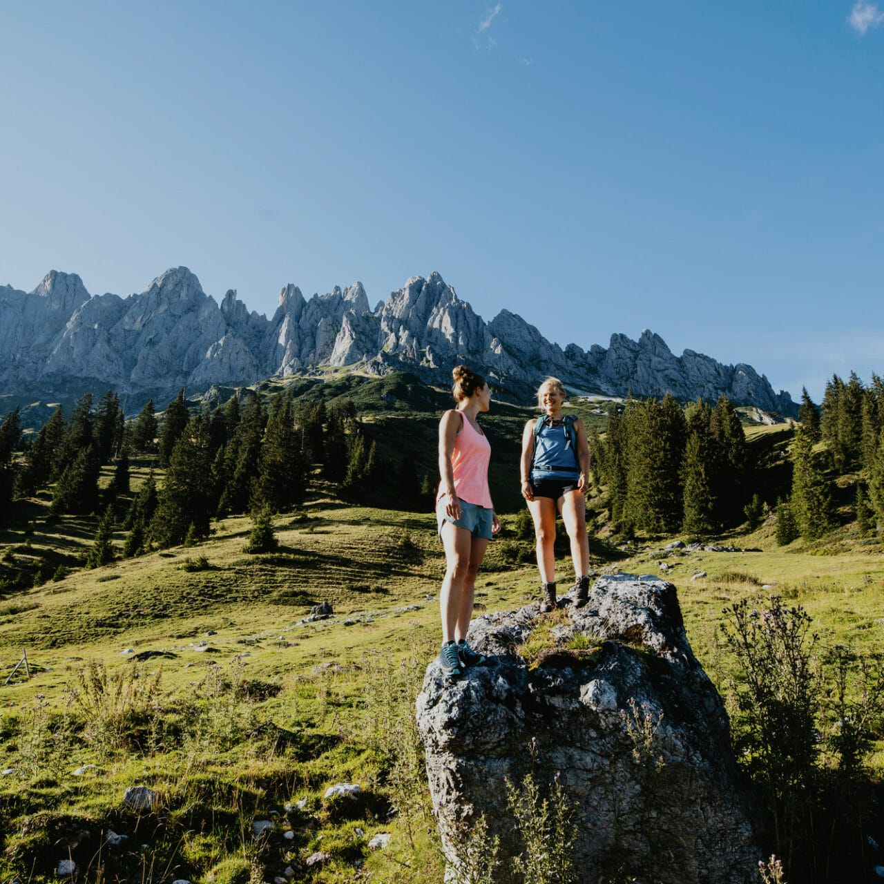 Hofgut-Wagrain-Apartment-Lifestyle-Resort-Freiheit-spueren-mit-Freunden-Wanderung-Berge