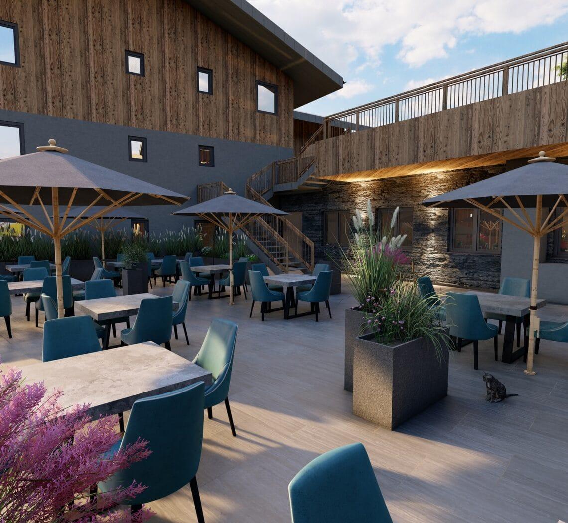 Hofgut-apartment-lifestyle-resort-Kulinarik-vaMoos-Restaurantterrasse